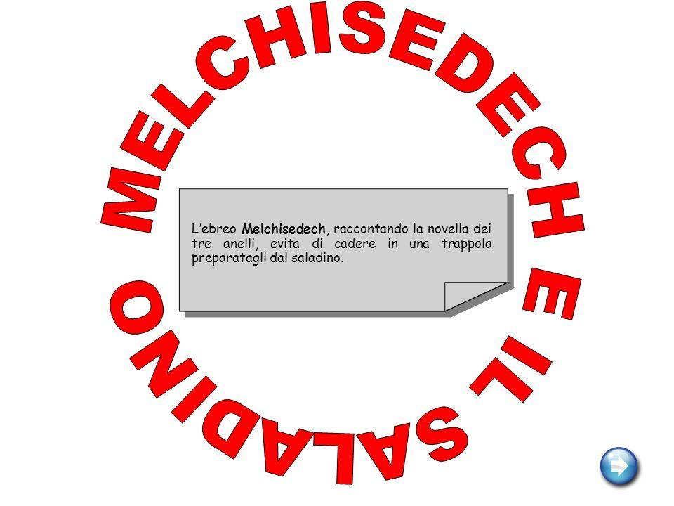 MELCHISEDECH E IL SALADINO