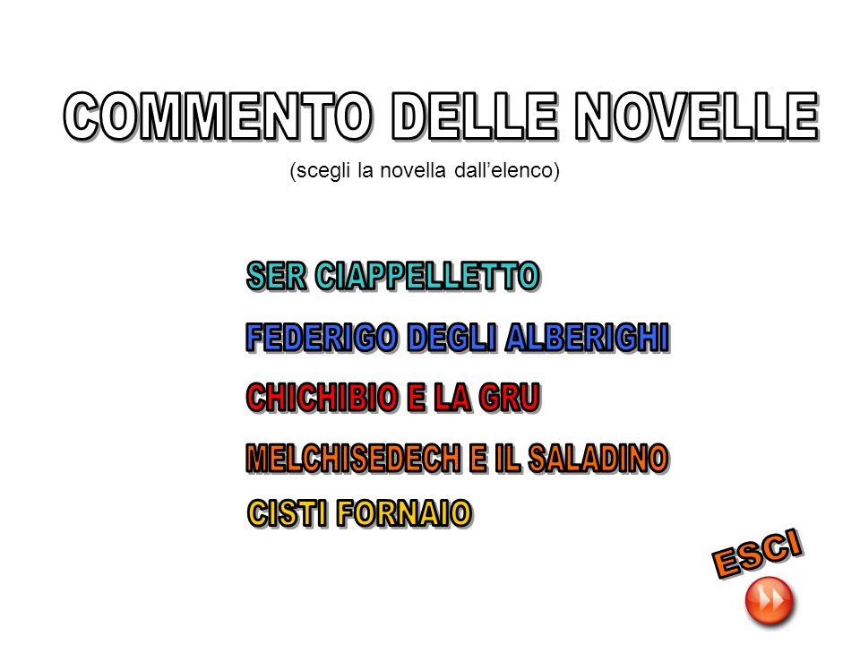 COMMENTO DELLE NOVELLE