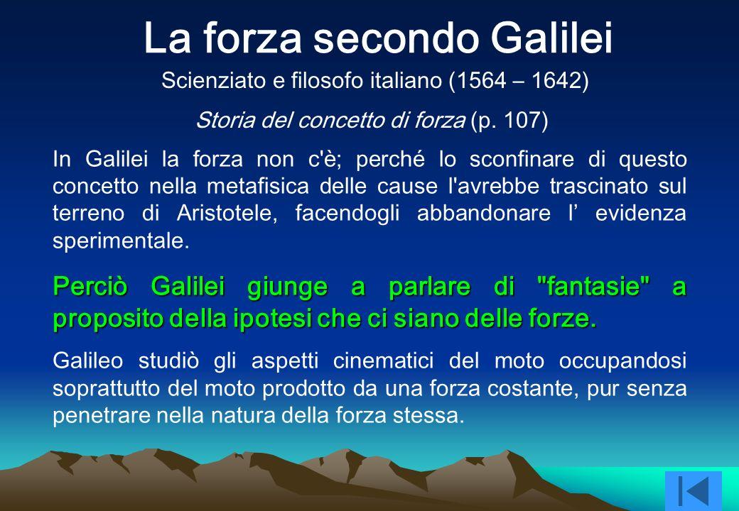 La forza secondo Galilei
