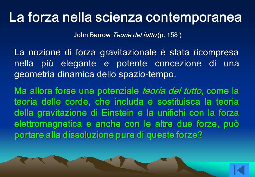 La forza nella scienza contemporanea