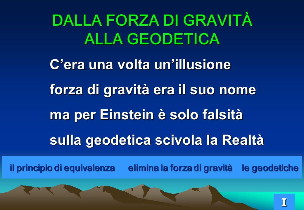 il principio di equivalenza elimina la forza di gravità