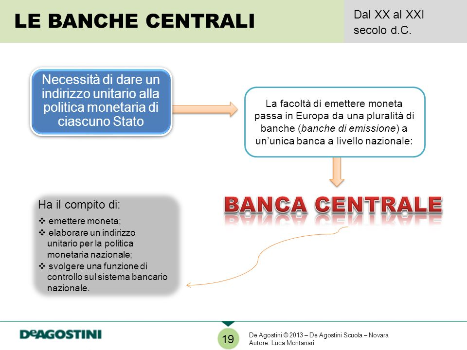 BANCA CENTRALE LE BANCHE CENTRALI