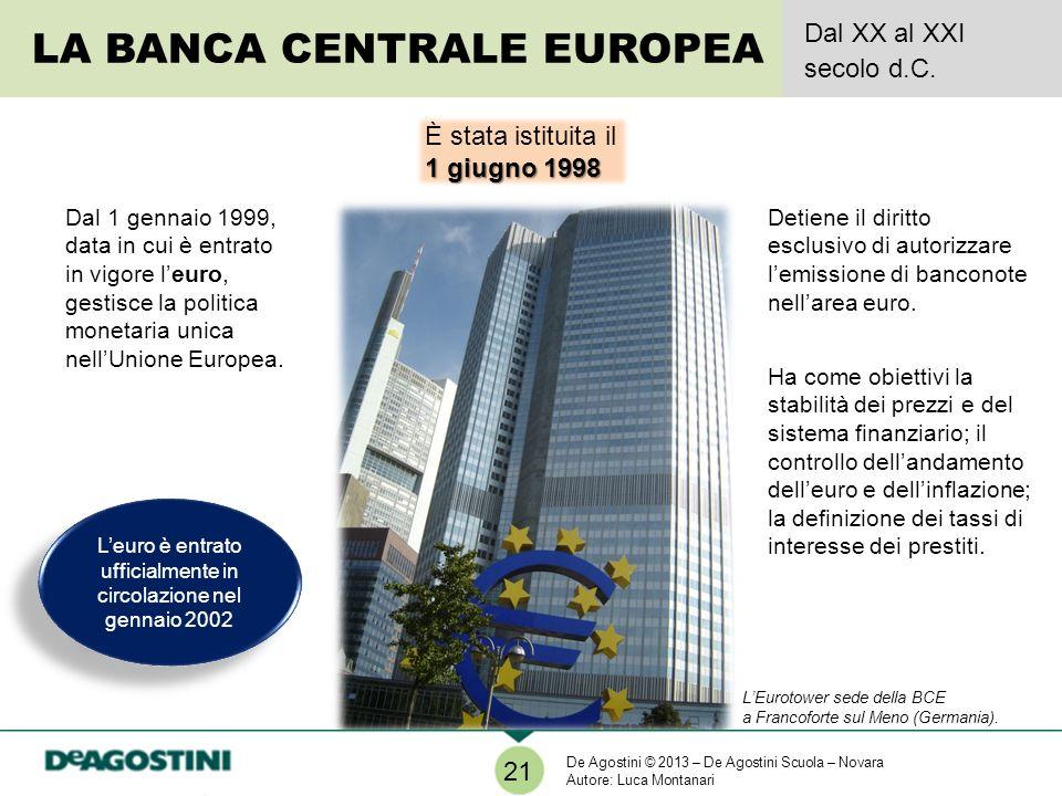 L'euro è entrato ufficialmente in circolazione nel gennaio 2002