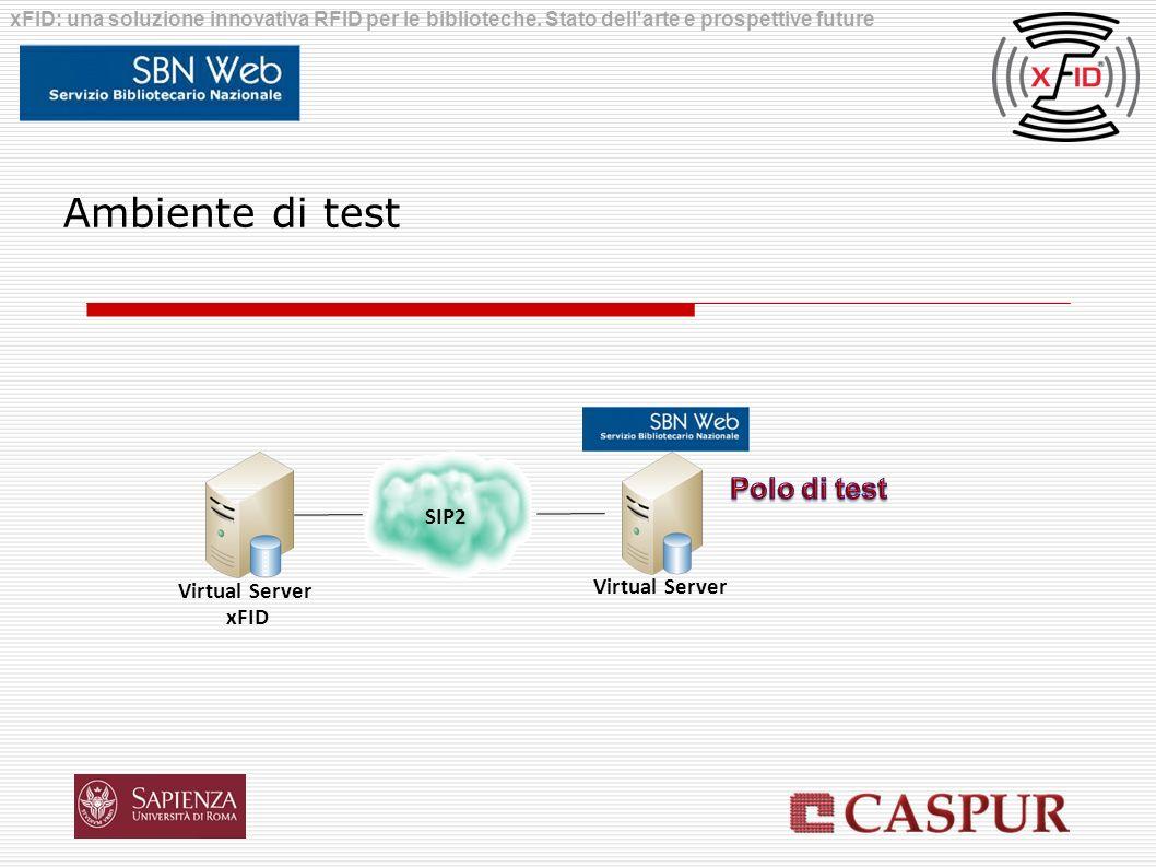 Ambiente di test Polo di test SIP2 Virtual Server Virtual Server xFID