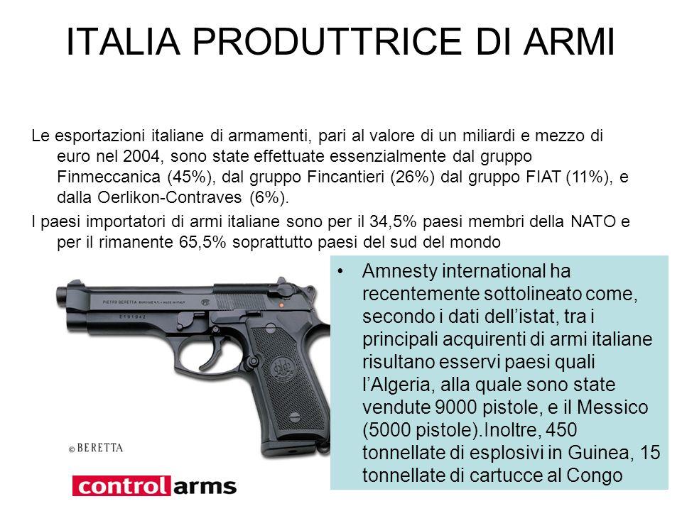 ITALIA PRODUTTRICE DI ARMI