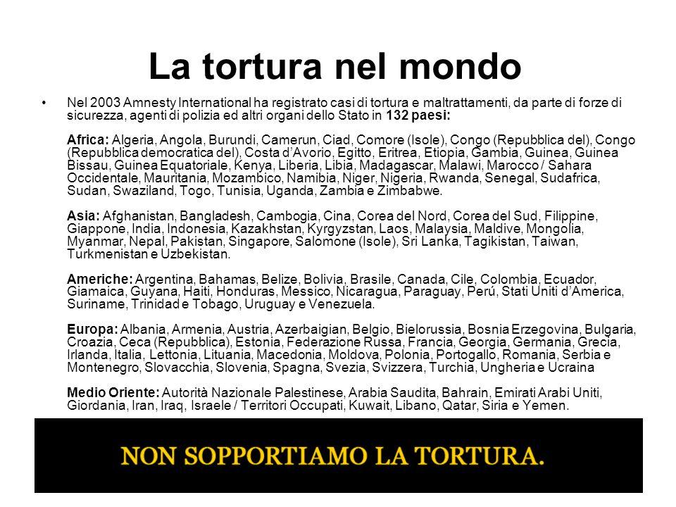 La tortura nel mondo