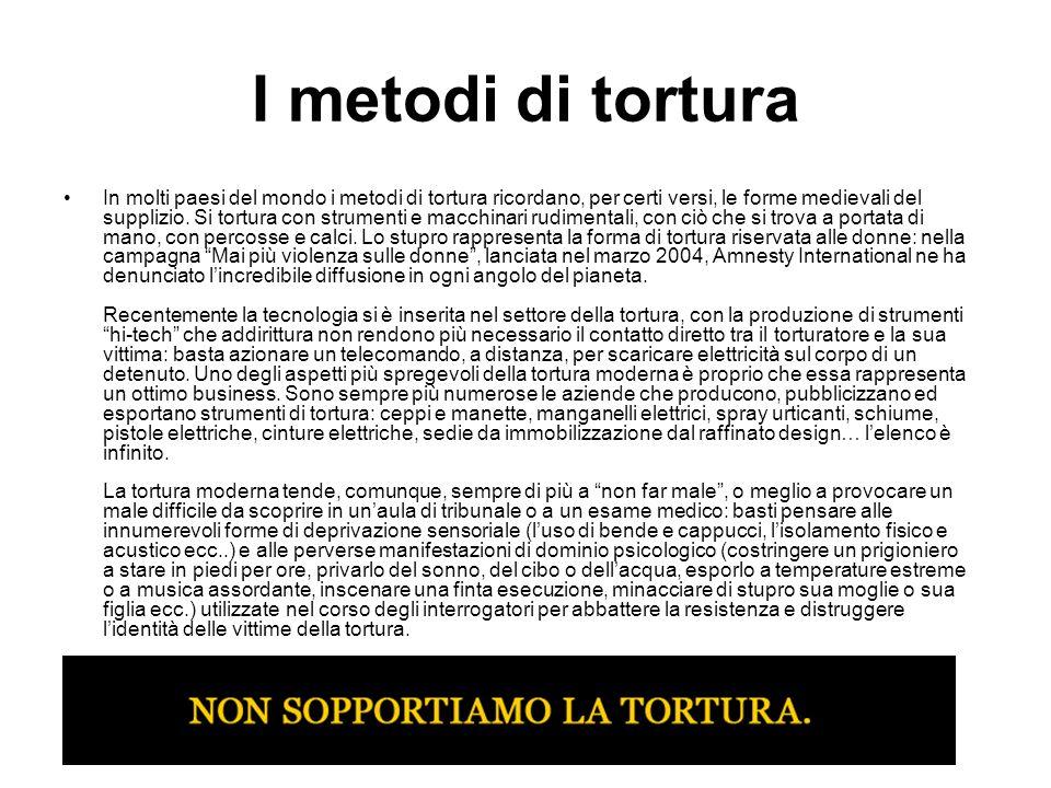I metodi di tortura