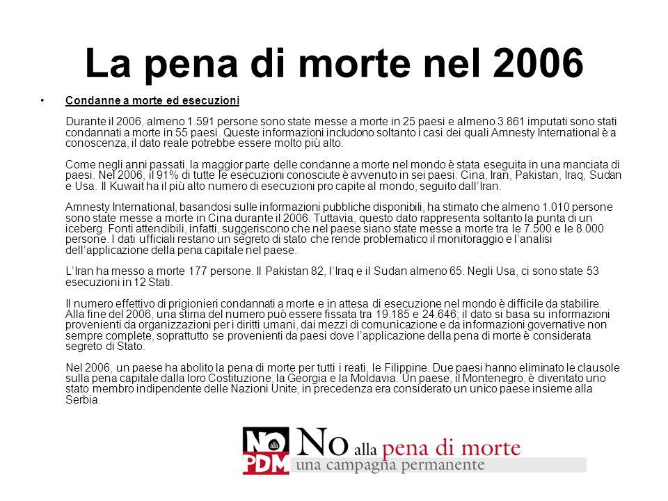 La pena di morte nel 2006