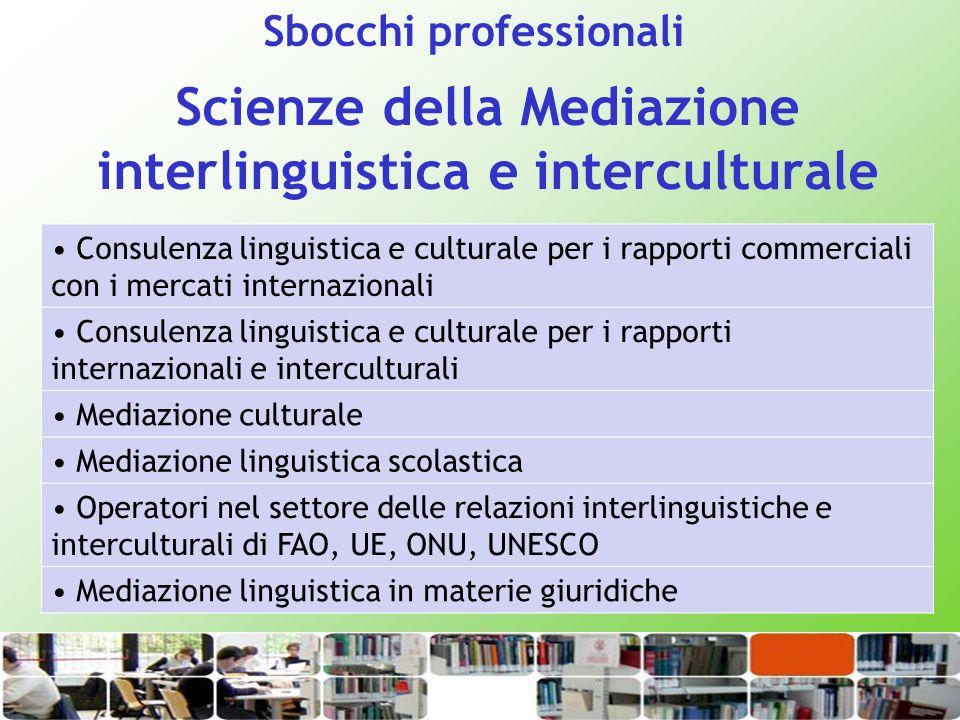Scienze della Mediazione interlinguistica e interculturale