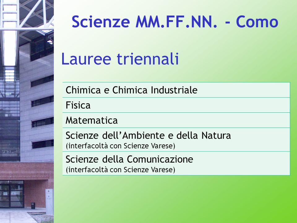 Scienze MM.FF.NN. - Como Lauree triennali
