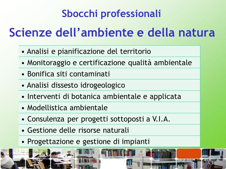 Scienze dell'ambiente e della natura