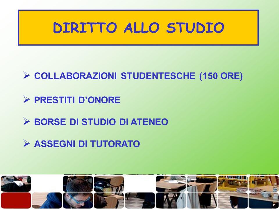 DIRITTO ALLO STUDIO COLLABORAZIONI STUDENTESCHE (150 ORE)