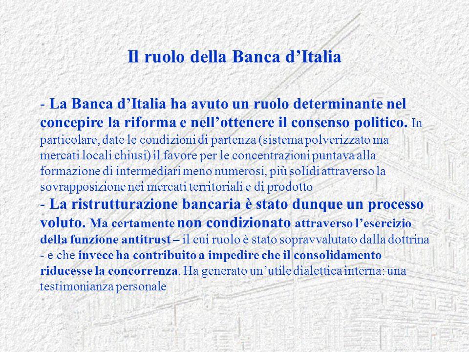 Il ruolo della Banca d'Italia