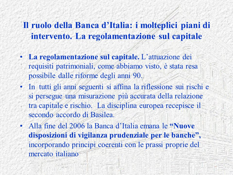 Funzionario generale della banca d italia ppt scaricare for Come leggere i piani del cantiere
