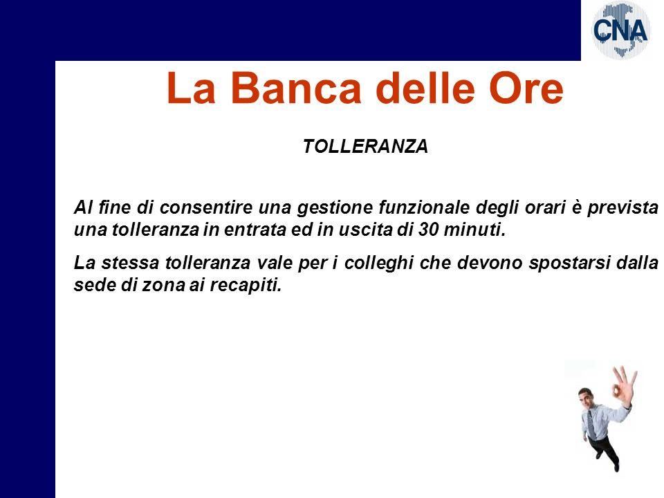 La Banca delle Ore TOLLERANZA