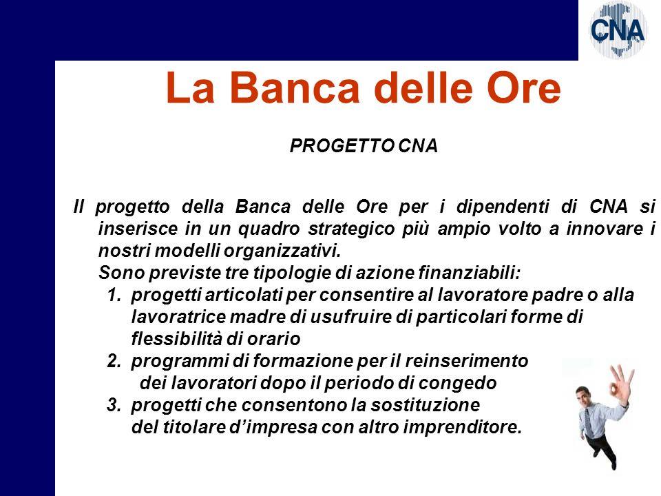 La Banca delle Ore PROGETTO CNA