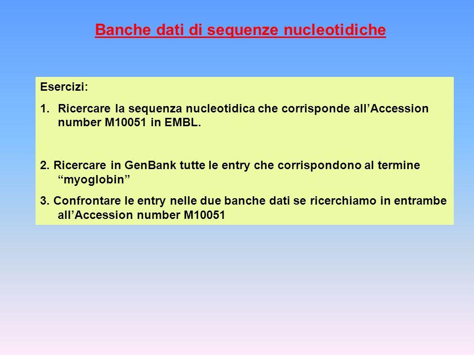 Banche dati di sequenze nucleotidiche