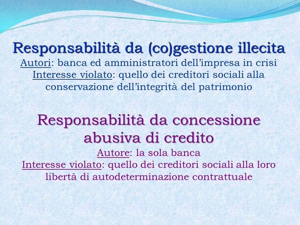 Responsabilità da (co)gestione illecita