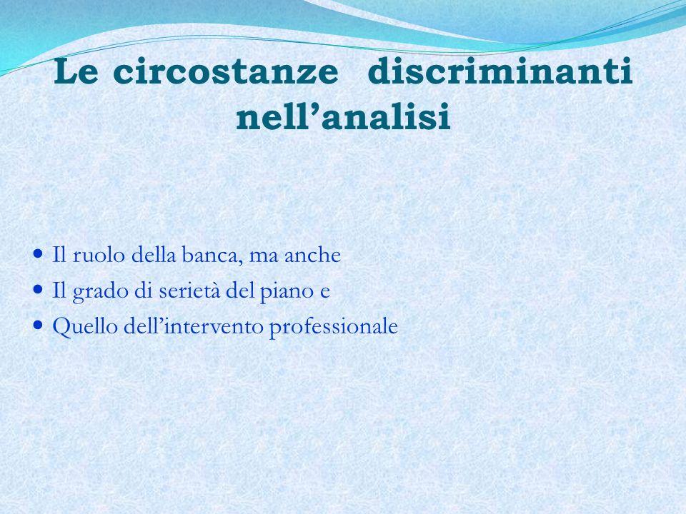 Le circostanze discriminanti nell'analisi