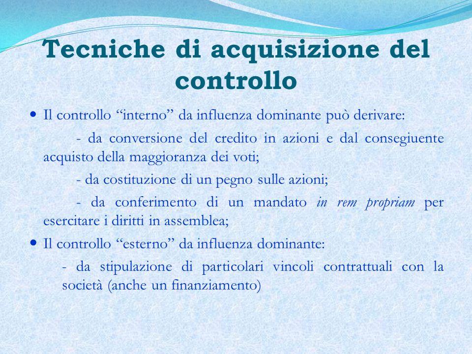 Tecniche di acquisizione del controllo