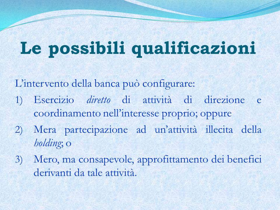 Le possibili qualificazioni