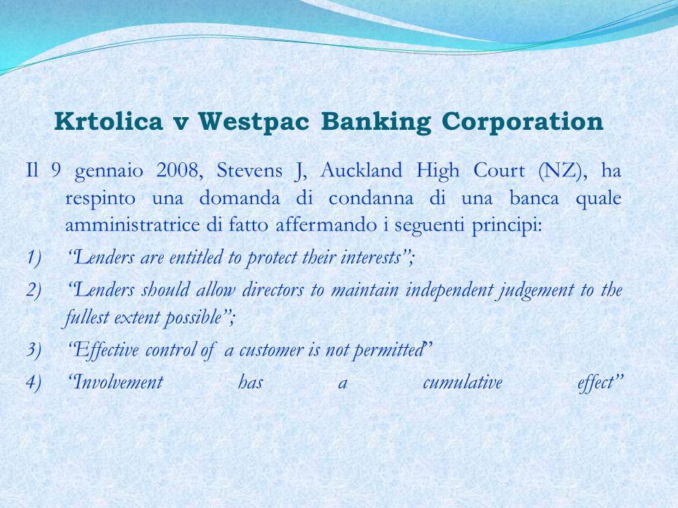 Krtolica v Westpac Banking Corporation