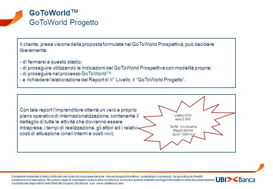 GoToWorld™ GoToWorld Progetto