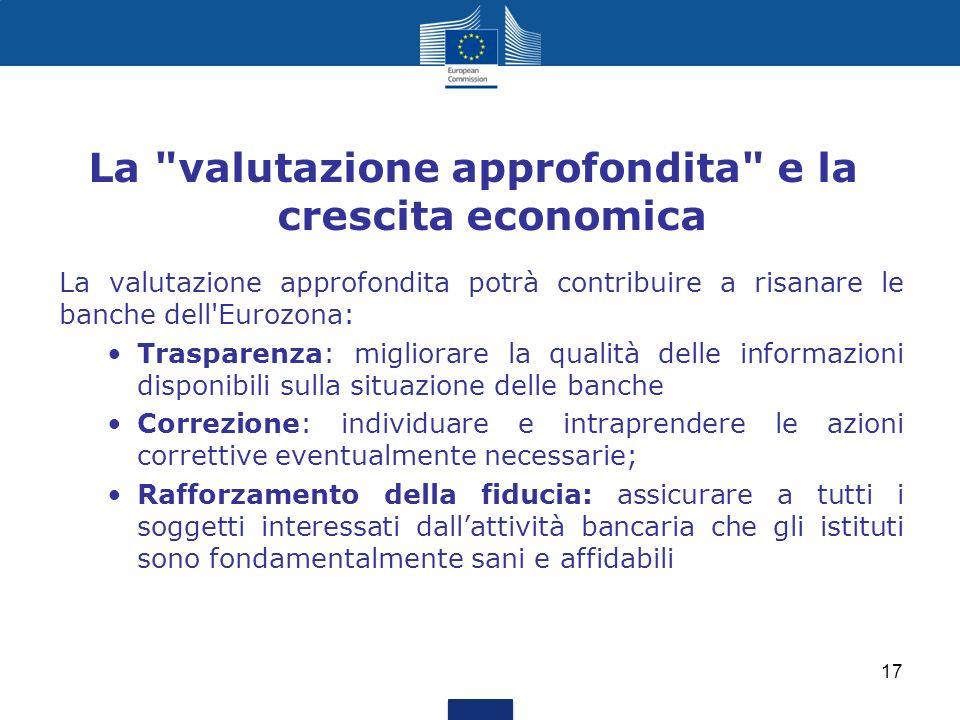 La valutazione approfondita e la crescita economica