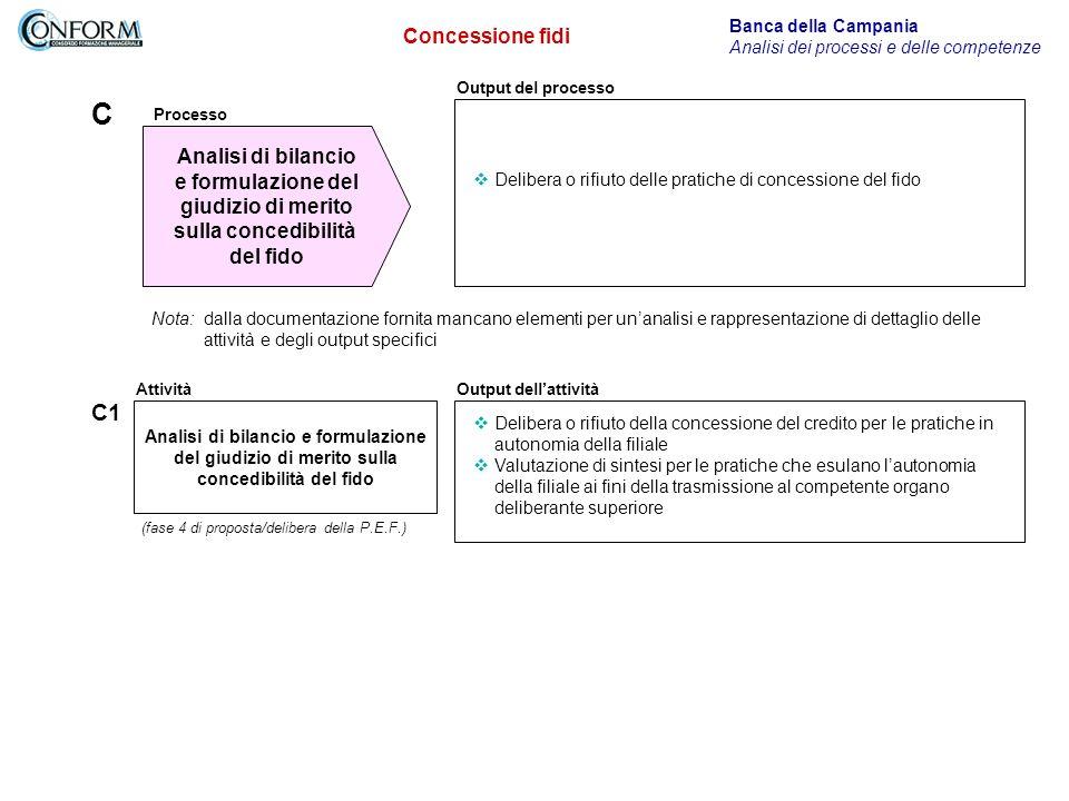 C C1 Concessione fidi Analisi di bilancio e formulazione del