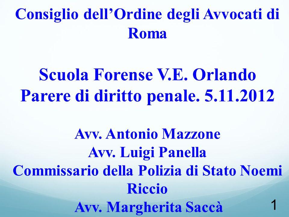 Consiglio dell'Ordine degli Avvocati di Roma Scuola Forense V. E