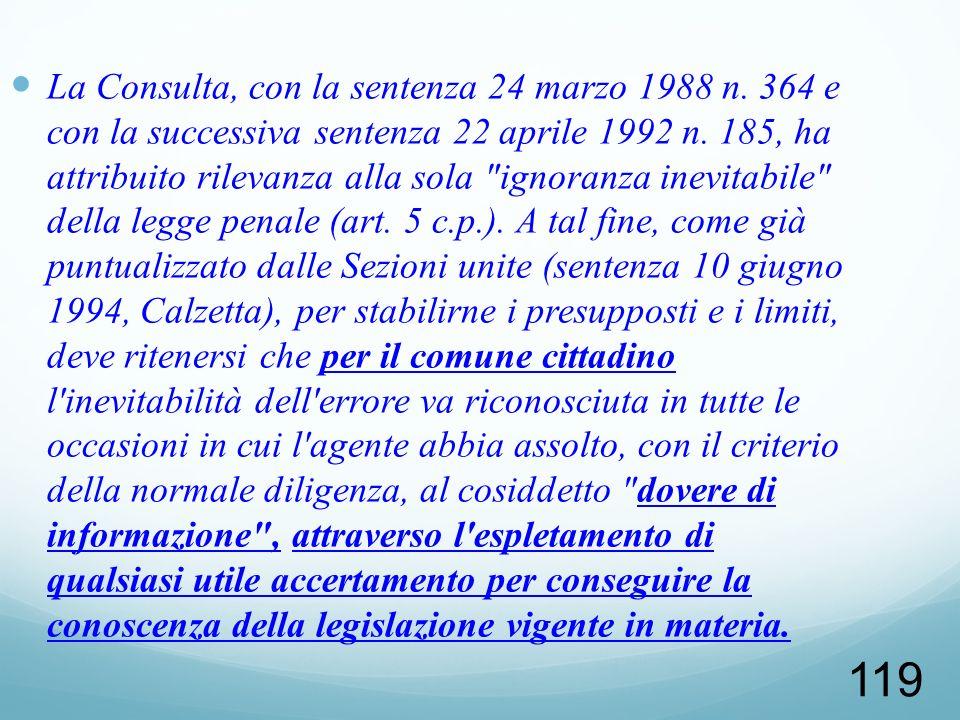 La Consulta, con la sentenza 24 marzo 1988 n
