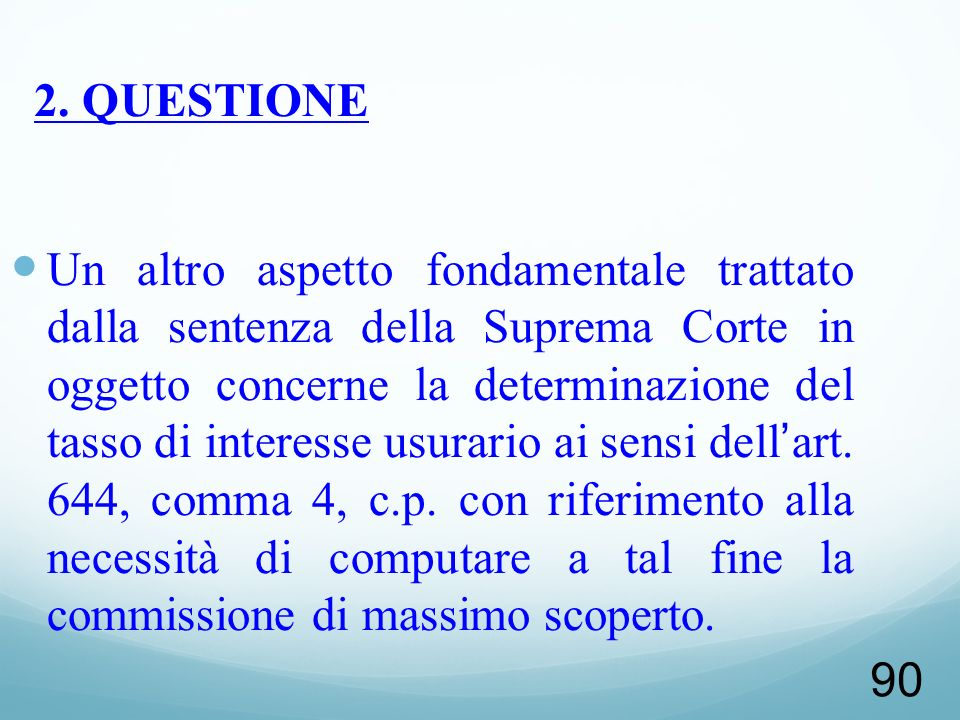 2. QUESTIONE