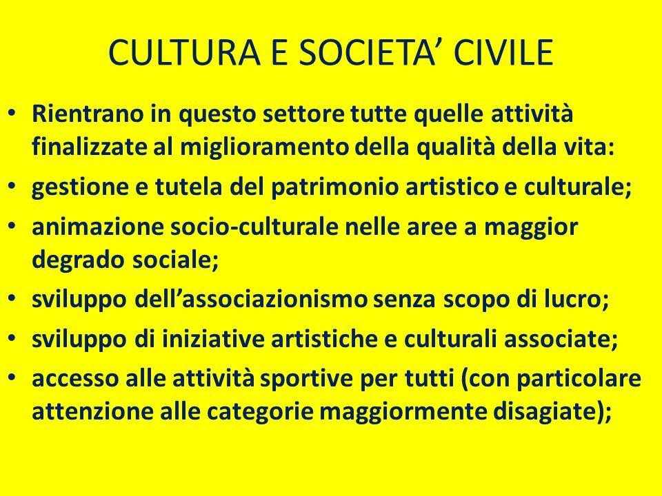 CULTURA E SOCIETA' CIVILE