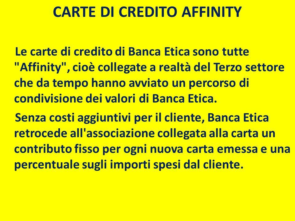 CARTE DI CREDITO AFFINITY