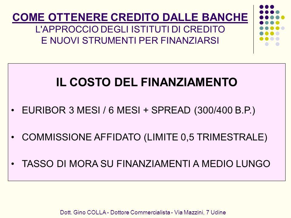 IL COSTO DEL FINANZIAMENTO