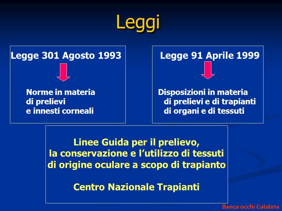 Leggi Legge 301 Agosto 1993 Legge 91 Aprile 1999