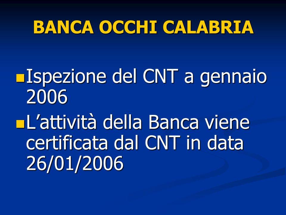 Ispezione del CNT a gennaio 2006