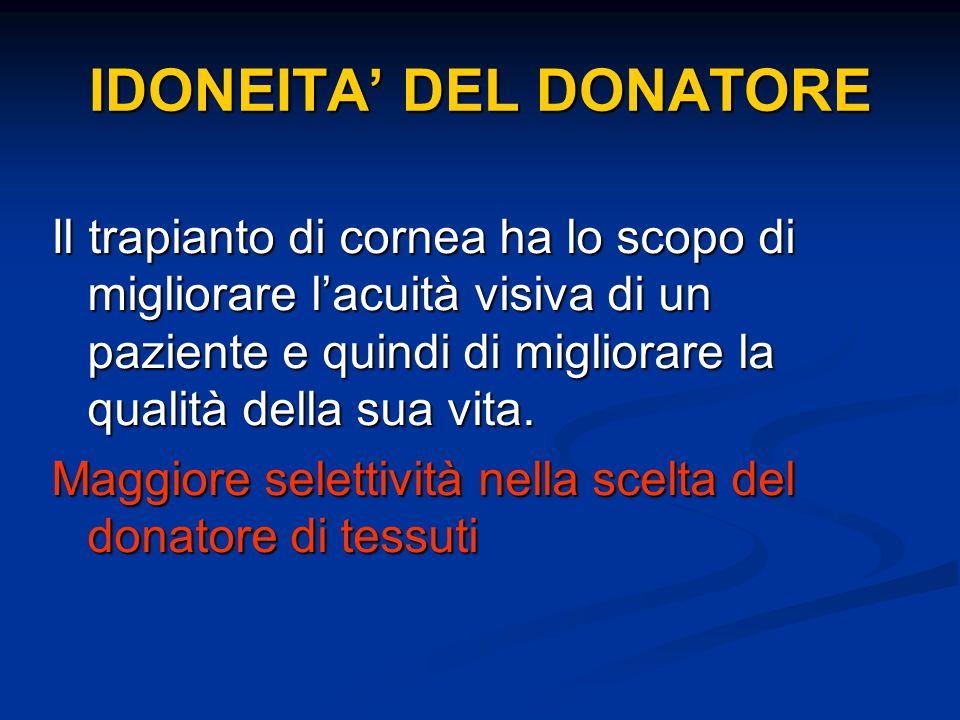 IDONEITA' DEL DONATORE