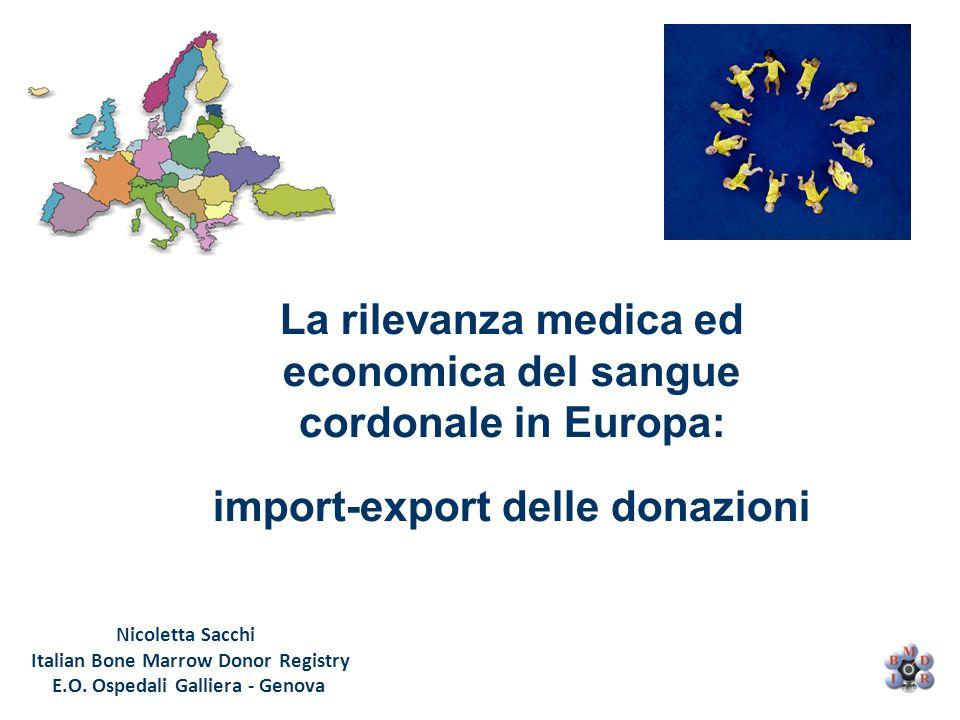 La rilevanza medica ed economica del sangue cordonale in Europa: