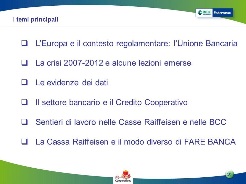 L'Europa e il contesto regolamentare: l'Unione Bancaria