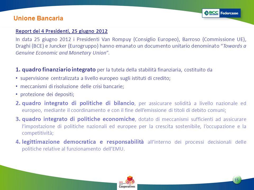 Unione Bancaria Report dei 4 Presidenti, 25 giugno 2012.