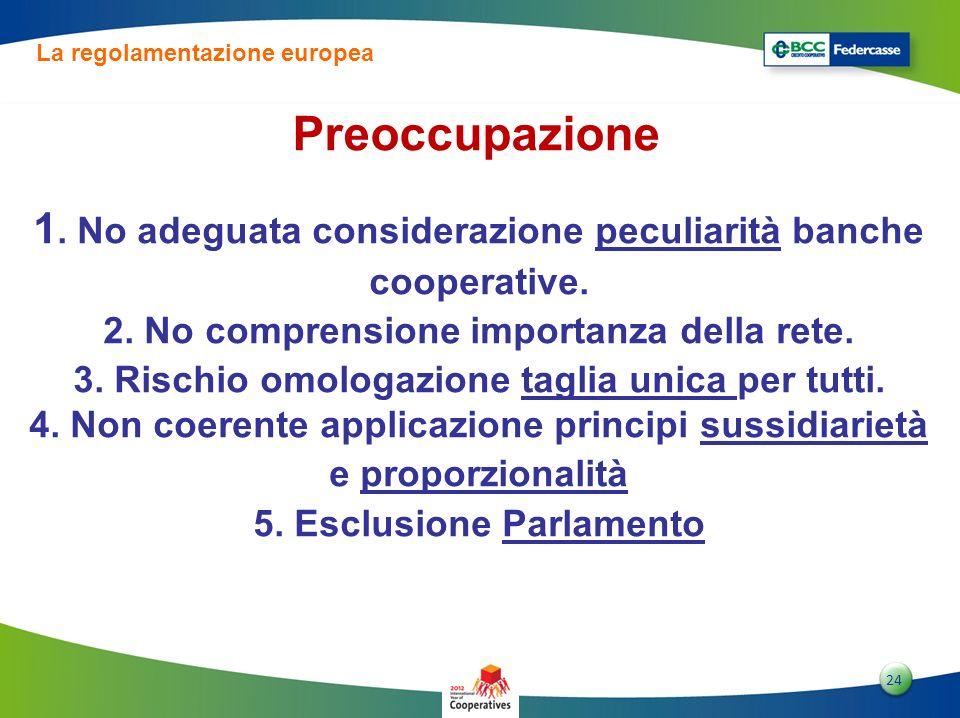La regolamentazione europea