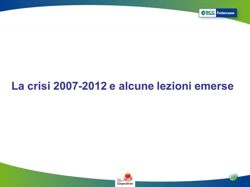 La crisi 2007-2012 e alcune lezioni emerse