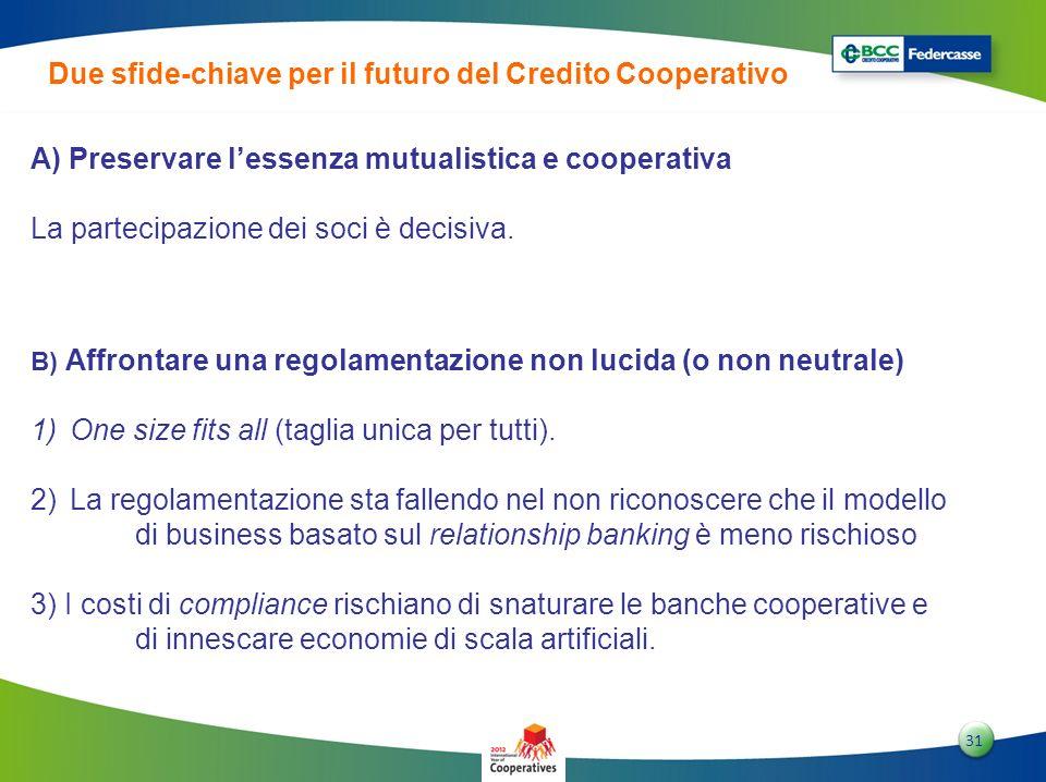 Due sfide-chiave per il futuro del Credito Cooperativo