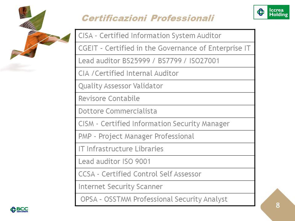 Certificazioni Professionali