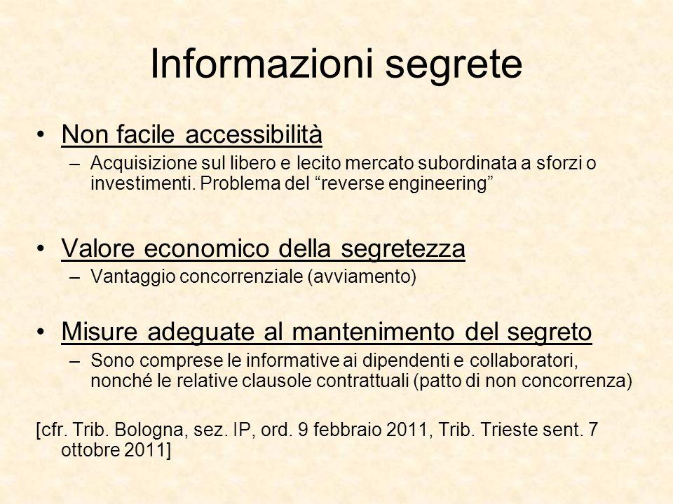 Informazioni segrete Non facile accessibilità