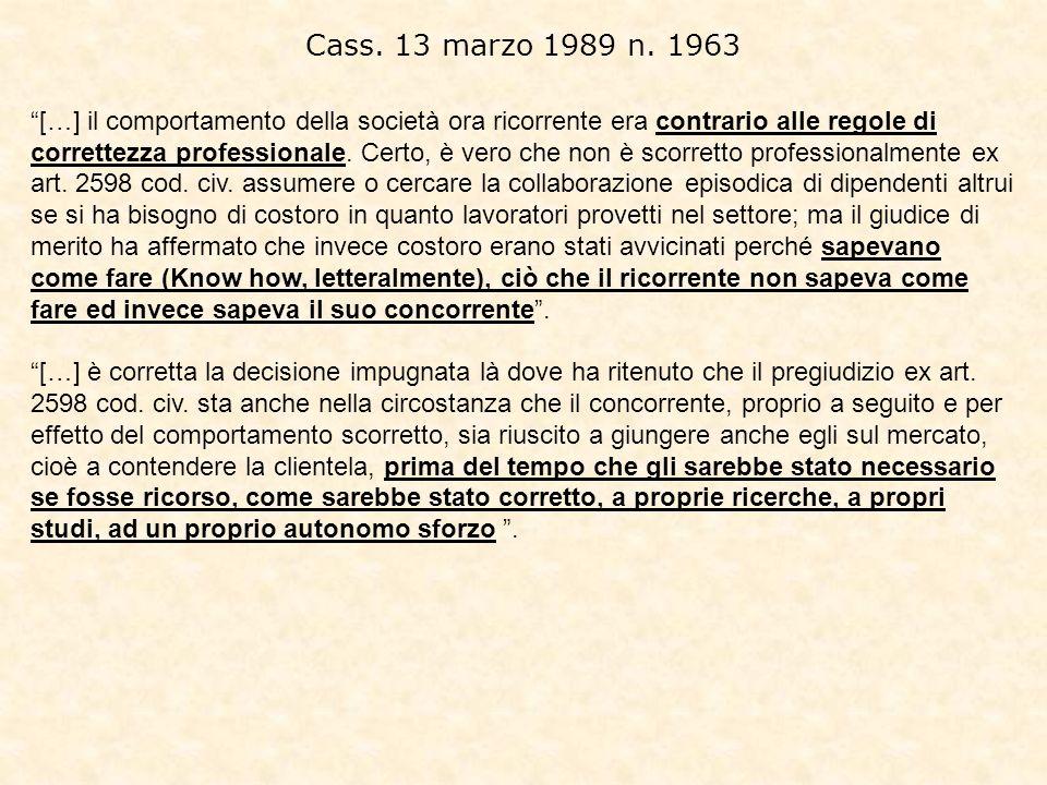 Cass. 13 marzo 1989 n. 1963