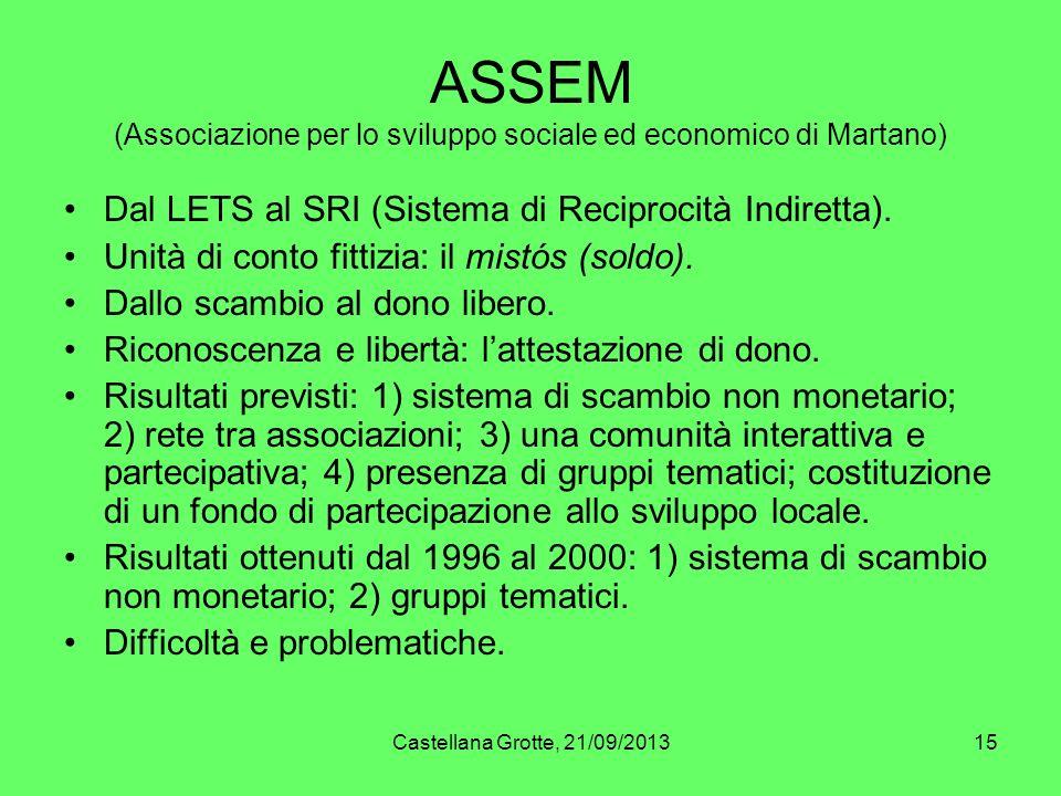 ASSEM (Associazione per lo sviluppo sociale ed economico di Martano)
