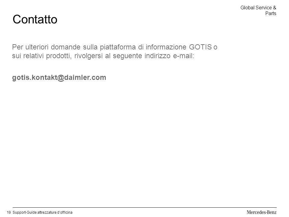 Contatto Per ulteriori domande sulla piattaforma di informazione GOTIS o sui relativi prodotti, rivolgersi al seguente indirizzo e-mail: