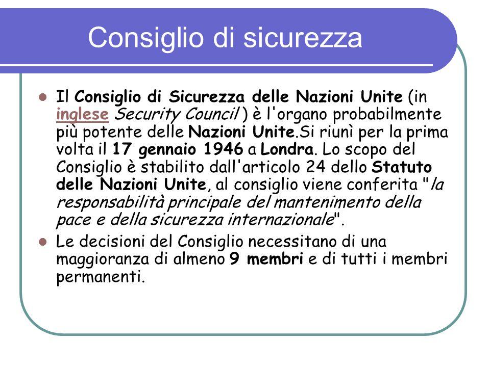 Consiglio di sicurezza